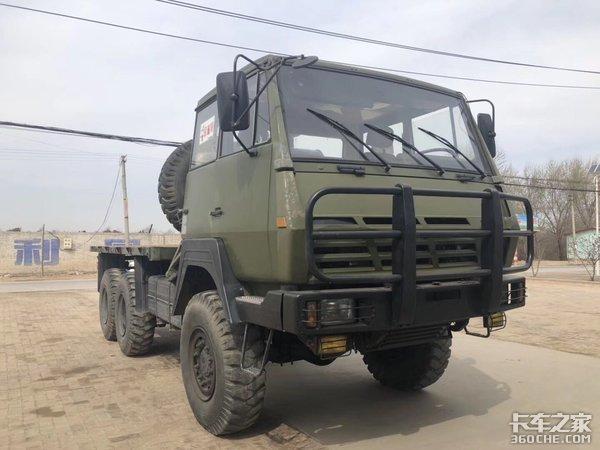 1996年服役,实拍陕汽SX2190军用卡车
