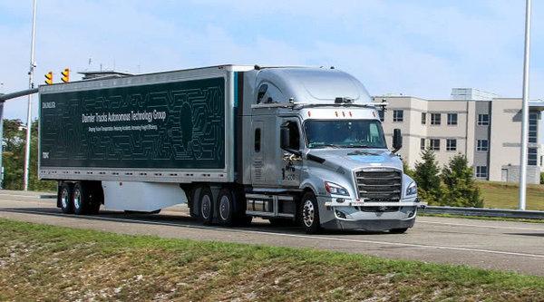 戴姆勒联手Torc在弗吉尼亚州测试自动驾驶卡车