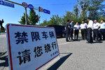 广华大道交通管制 上下高速绕行石岭岗