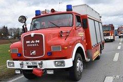 33年车龄服役一线!1986年的长头消防车
