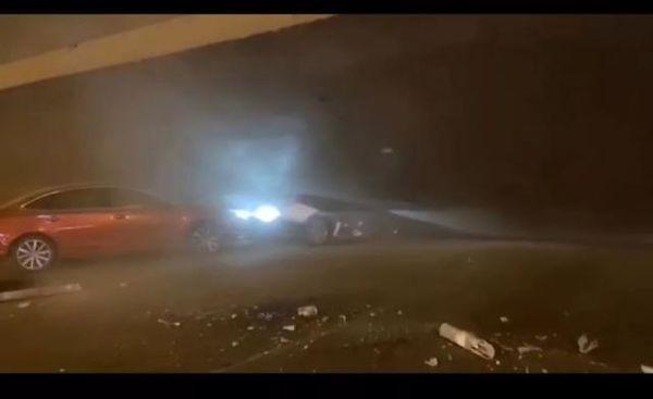 江苏锡山区312国道一高架桥坍塌路段封锁需绕行