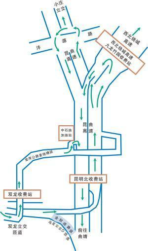 昆明:�|�@城高速北段16日起施工需�@行