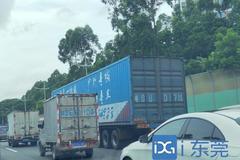 东莞交警:从严查处大货车的超载超限!