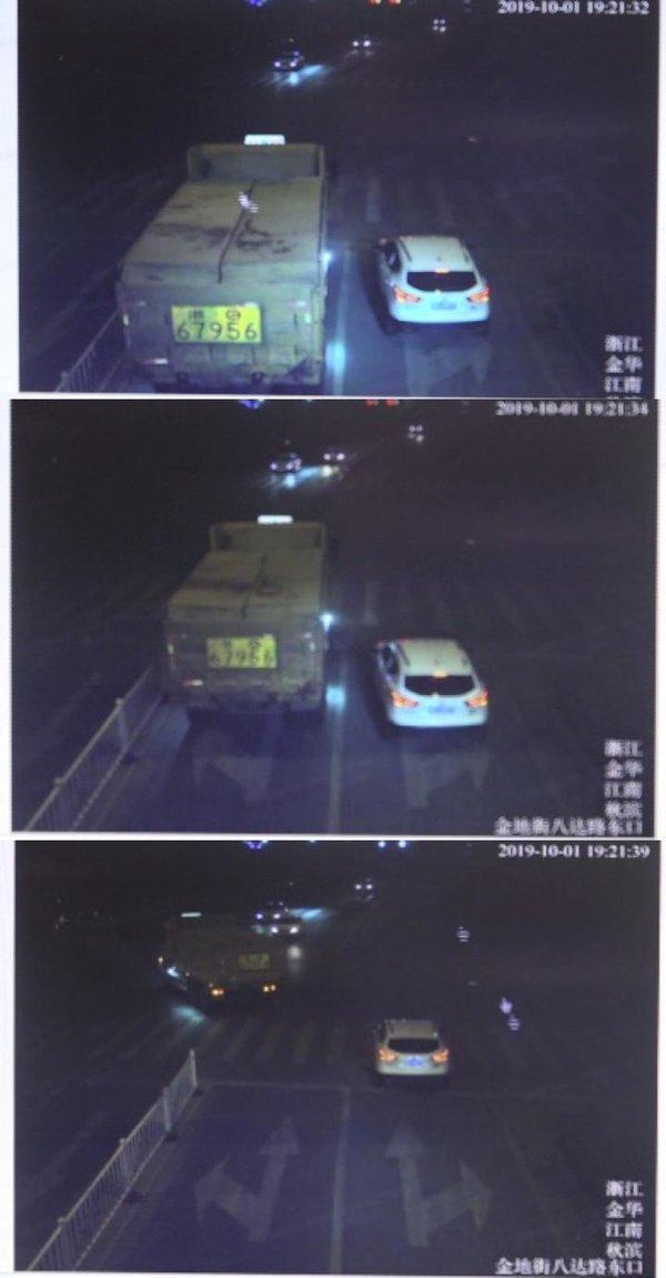 金华货车司机连续闯红灯驾驶证被降级