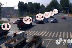 超载货车排队钻空 交警查获42辆超载车