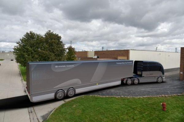 现代:公布氢能源商用卡车及挂车概念车