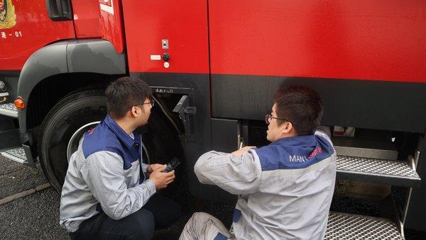 七十峥嵘与国同梦2019曼恩全国消防底盘巡检助力天津