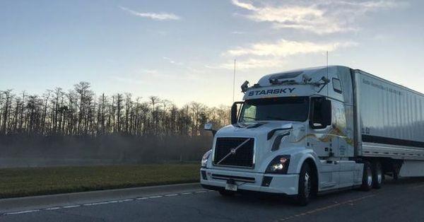 国外测试重型无人驾驶卡车时速达到88.5公里/小时