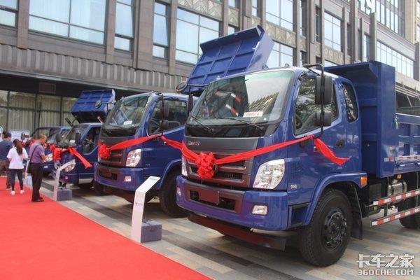 订车217台福田瑞沃国六产品深圳上市