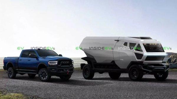 特斯拉卡车最新渲染图纯黑外观更具运动气息