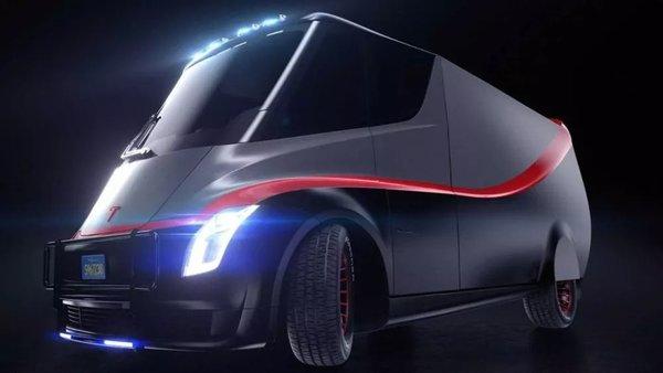 特斯拉卡车最新渲染图纯黑外观更亮眼