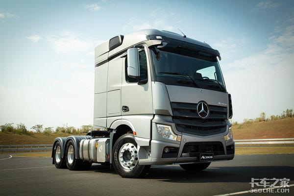 奔驰新ACTROS打破商用车安全领域里程碑