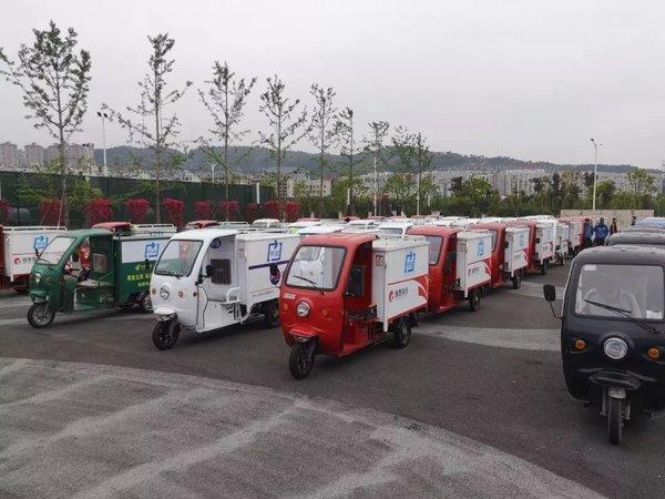 南京:邮政快递专用电动三轮车正式上路