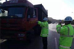山西:交警加强对重型货车的管控力度!