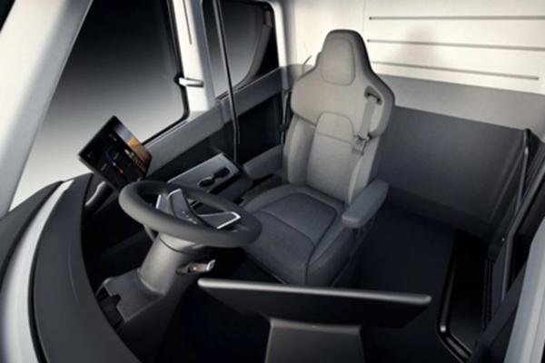 特斯拉:Semi设计了卡车座椅悬架系统!