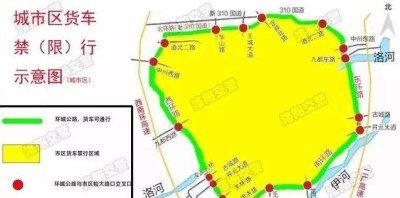 蓝牌也限行洛阳城区货车24小时禁行