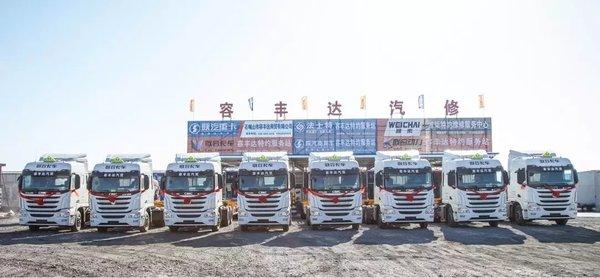 """""""燃""""动宁夏筑梦西北!45台联合卡车国六天然气重卡顺利交付用户"""