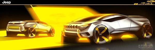 JeepCottoni皮卡设计图确定不是战车?