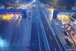 河南高速收费站施工 这个路段封闭5小时