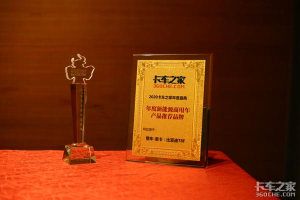 年度盛典:比亚迪T8F获新能源重卡大奖