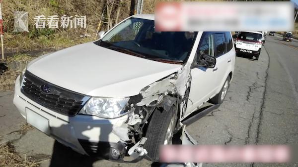 日本司机很纳闷迎面驶来的卡车留下两轮胎走了?