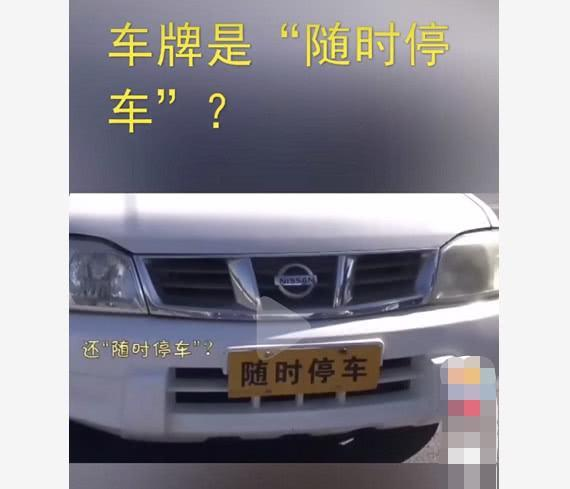 皮卡车挂'临时停车'车牌交警哭笑不得