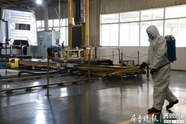 下线重卡150台!中国重汽济宁商用车公司复工首日即恢复产能
