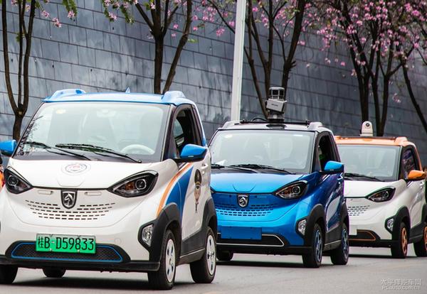 五菱再出新科技智能测温车/无人物流车