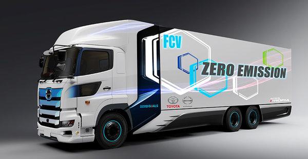 续航里程约为600公里丰田与日野合作研发重型燃料电池卡车