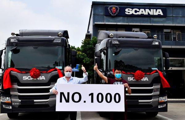 疫情也阻挡不了销量!斯堪尼亚广州直营经销商交付第1000台卡车