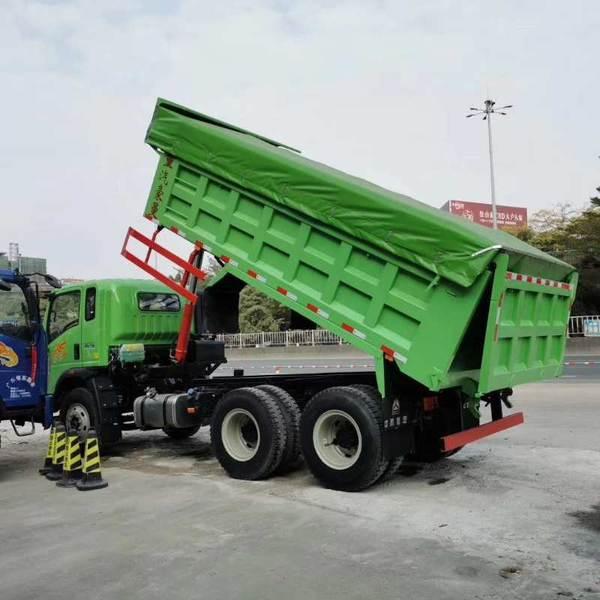 装15吨合规不超载豪曼推6x4小三轴自卸