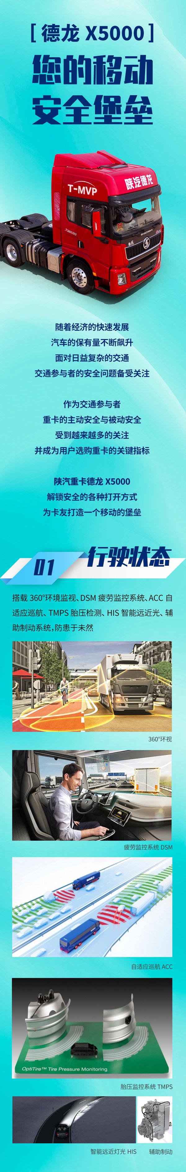 陕汽重卡:德龙X5000您的移动安全堡垒