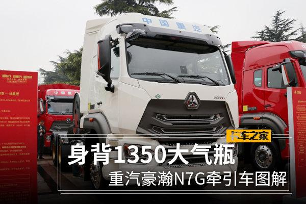 """440马力燃气机+1350L大气瓶""""精神小伙""""重汽豪瀚N7G图解"""