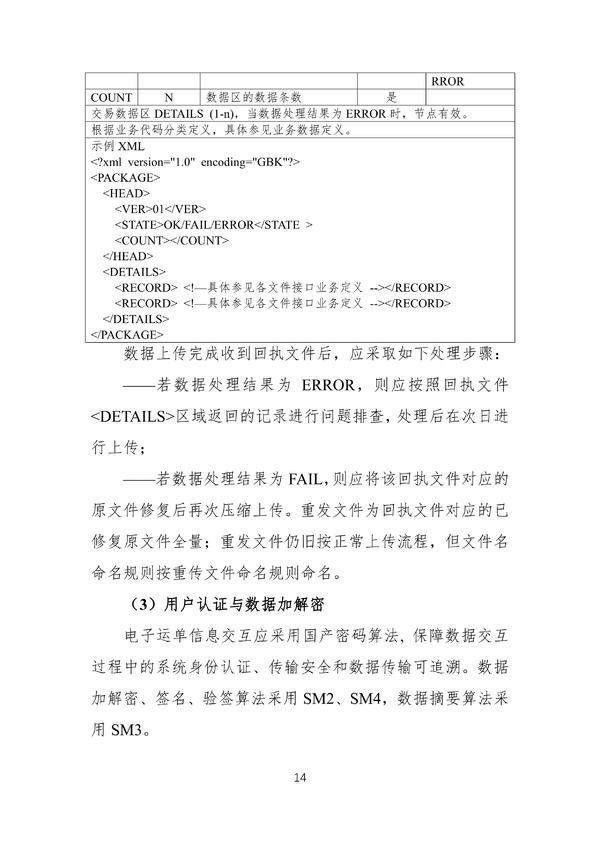 交通部最新发布!危险货物道路运输电子运单信息交互技术规范(暂行)