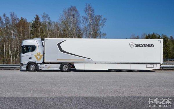 斯堪尼亚S650牵引车高速油耗实测,总重40吨,百公里还不到28升