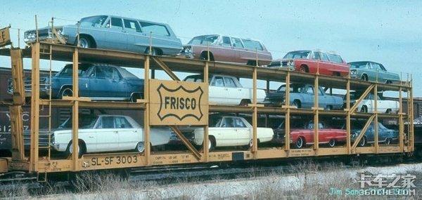 中置轴算什么!看看福特上个世纪的轿运车,一次最多能装18台