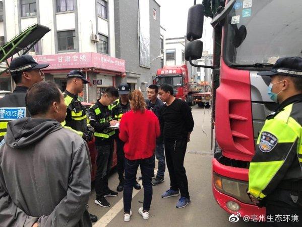 亳州市多部门齐抓共管开展柴油货车污染防治入户检查