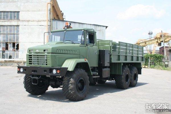 徐工驾驶室、潍柴发动机,这款KrAZ军用卡车很有料