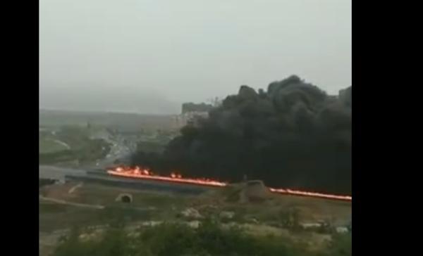 连霍高速三门峡段油罐车着火驾驶员、押运员2人死亡