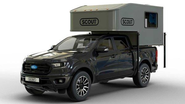 """移动的""""屋子""""Scout皮卡房车创意改装"""