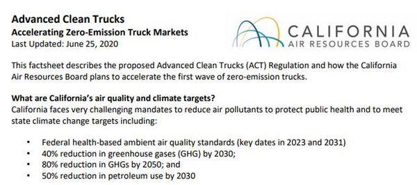 美国加州通过卡车零排放法规中国车企如何跟上市场节奏?