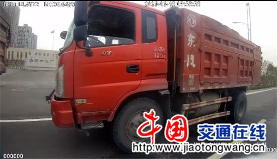 罚款550记1分邯郸货车私自加装栏板上路行驶被交警逮个正着