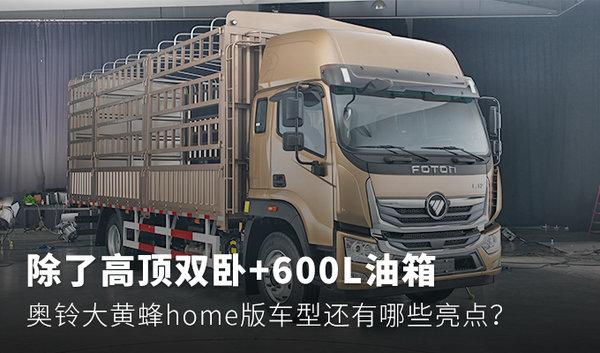除了高顶双卧+600L油箱奥铃大黄蜂home版车型还有哪些亮点?