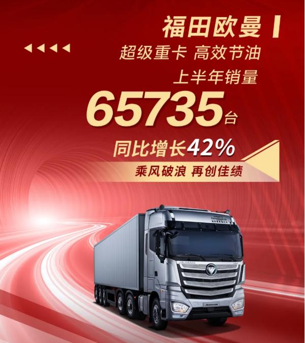 逆势增长!福田汽车上半年销量超32万台
