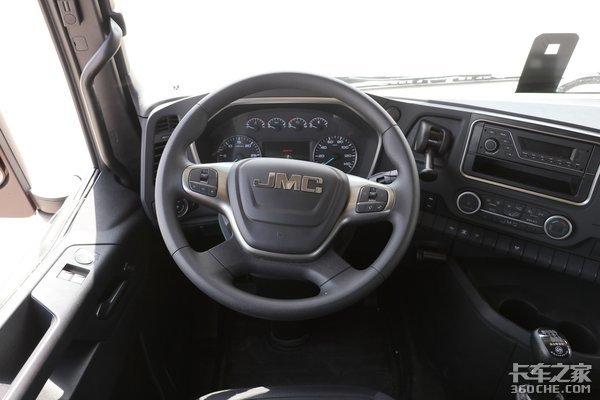 车市速看:460燃气黄金动力+高配驾驶室这台江铃HV5真的很精致
