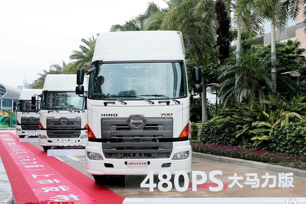 全新外观升级、空间加大、配置更高,广汽日野700系列牵引新车曝光