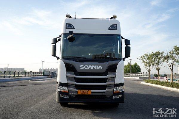 落地价约95万动力链全用自己产品斯堪尼亚G500图解