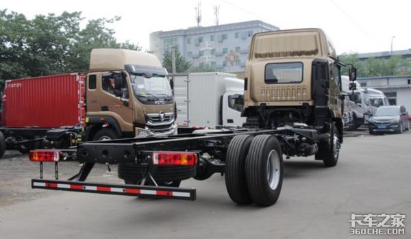 福田奥铃6米8载货车可配不同动力链,不管拉啥货都能满足