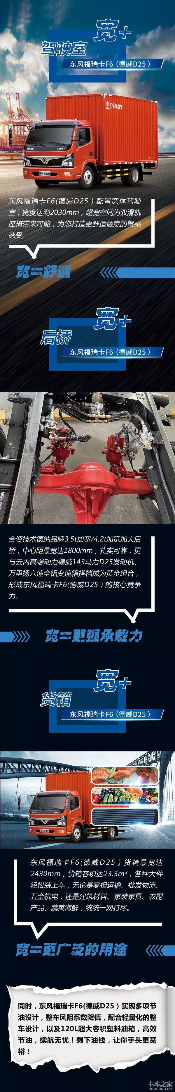 东风福瑞卡F6(德威D25)宽的不只驾驶室