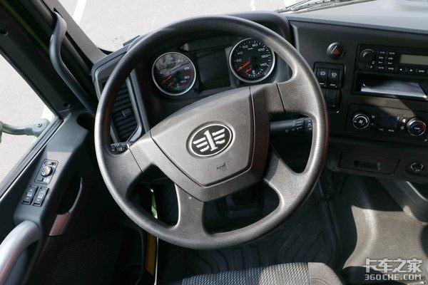 车市速看:400匹短轴8×4米自卸青汽JH6